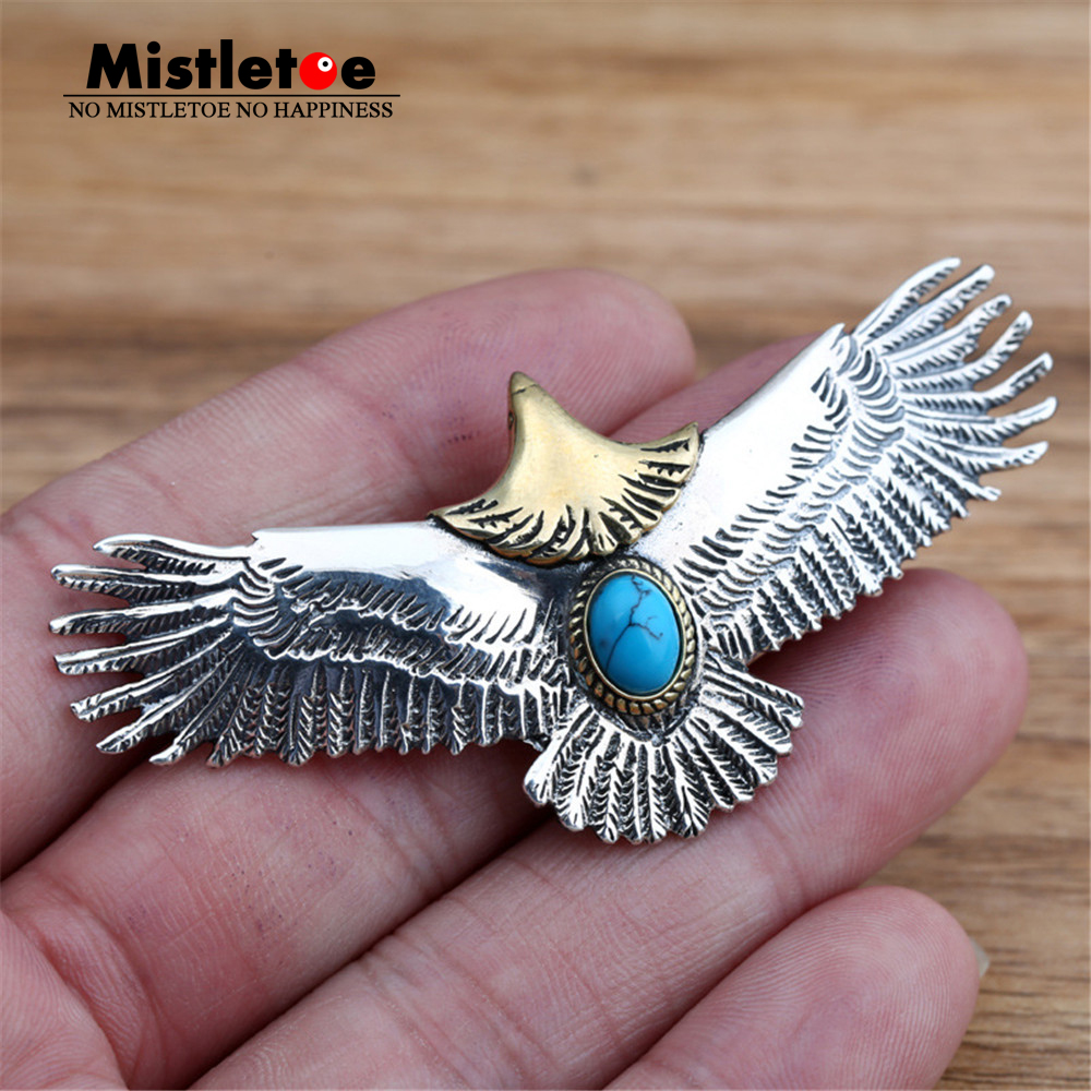Genuine 925 Sterling Silver Vintage Punk Locomotive Animal Indian Eagle Pendant For Women Men Necklace Jewelry Thai punk style etched gold plated eagle moon pendant necklace for men