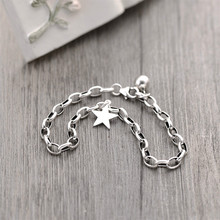 Flyleaf 925 Sterling Silver Pentagram Star Bracelets For Women Personality Simple Fashion Fine Jewelry Charm & Bangles