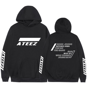 Image 2 - Kpop Ateez Sweatshirts Fake Two Pieces Hoodies Fashion Printed Pullover