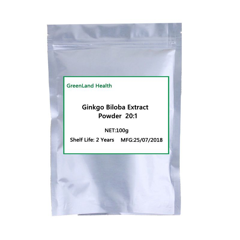 100% Pure Natural 20:1 Ginkgo Biloba Extract Powder Heart Brain Care Improve Memory Free shipping все цены