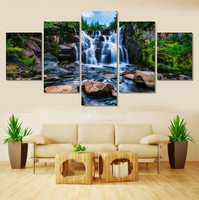5pcs Beautiful Waterfall Scenery Diy Diamond Painting Cross Stitch Mosiac Home Decoration Sqaure Drill Full Diamond
