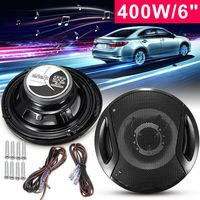 2Pcs Universal 6 Inch 12V 400W Car Subwoofer Max Iron Plastic 2 Way 2 Voice Coaxial