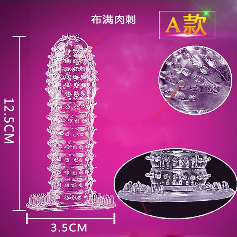 Exotic Accessories Reusable Condom Penis Sleeve Male Delayed Ejaculation Clit Massager Cock <font><b>Ring</b></font> Erotic Adult <font><b>Sex</b></font> Toys For Men image
