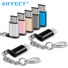 AIFFECT USB Type C Adapter to Micro USB female to Type-C male Converter USB C OTG Cable for Samsung Xiaomi Huawei Letv Macbook цена
