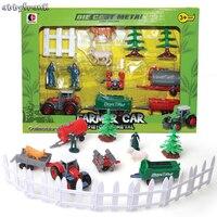 Abbyfrank Farm Scene Model Action Figures Play Set Mini Simulated Animal Truck Model Farmer Plastics Learning