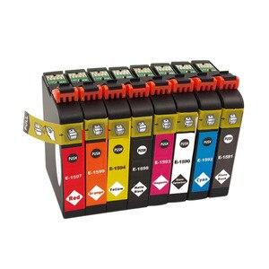 Image 5 - 8PK T1590 1590 cartucce di inchiostro Per Epson STYLUS PHOTO stampante R2000 T1590/T1591/T1592/T1593/T1594/T1597/T1598/T1599 cartuccia di inchiostro