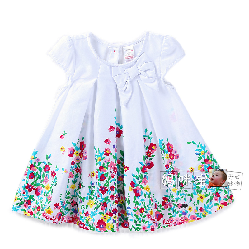 new 2019 <font><b>summer</b></font> <font><b>dress</b></font> <font><b>baby</b></font> girl clothes children short sleeves fresh flowers bow princess <font><b>dress</b></font> vestidos infantis Casual <font><b>dresses</b></font> image