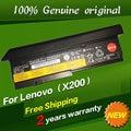 Envío libre 42t4834 42t4835 43r9254 42t4537 42t4536 batería original del ordenador portátil para lenovo thinkpad x200 x201 x200s 11.1 v 94wh