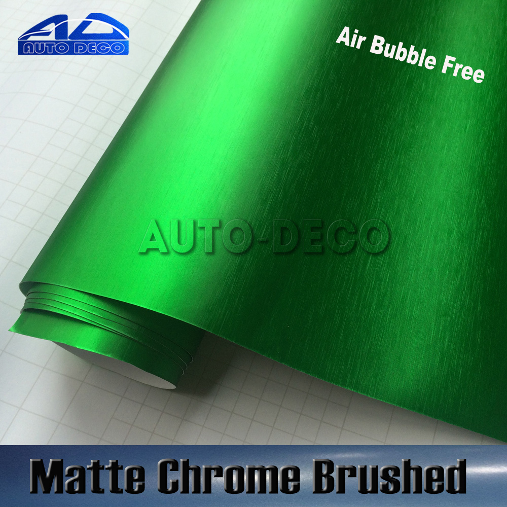 Wholesale Brushed Matte Chrome Car Wrap Green Vinyl Film Auto Body Sticker With Air Channel FedEx Free Shipping 1.52*20m/roll часы nixon corporal ss matte black industrial green