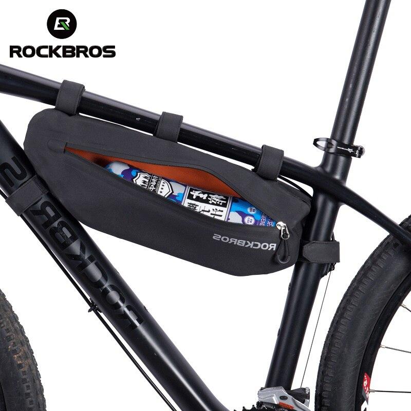 Велосипедные Сумки ROCKBROS 3L с треугольным верхом, водонепроницаемая Светоотражающая сумка с отделением для велосипеда, Аксессуары для велос...