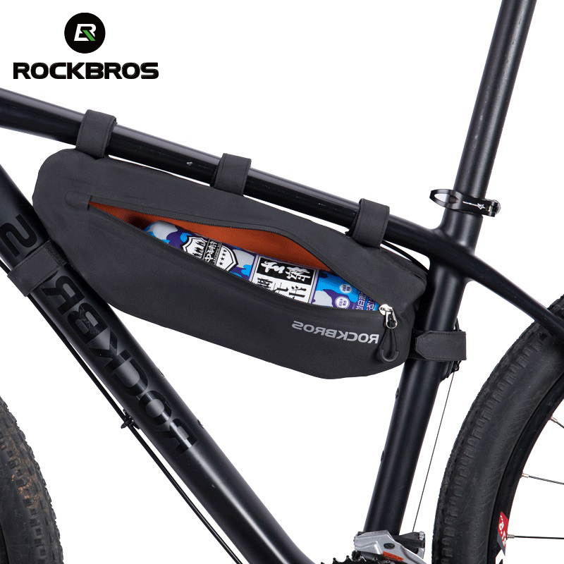 RockBros MTB Bike Top Tube Waterproof Triangle Bag Frame Bag Black Gold  5L//8L