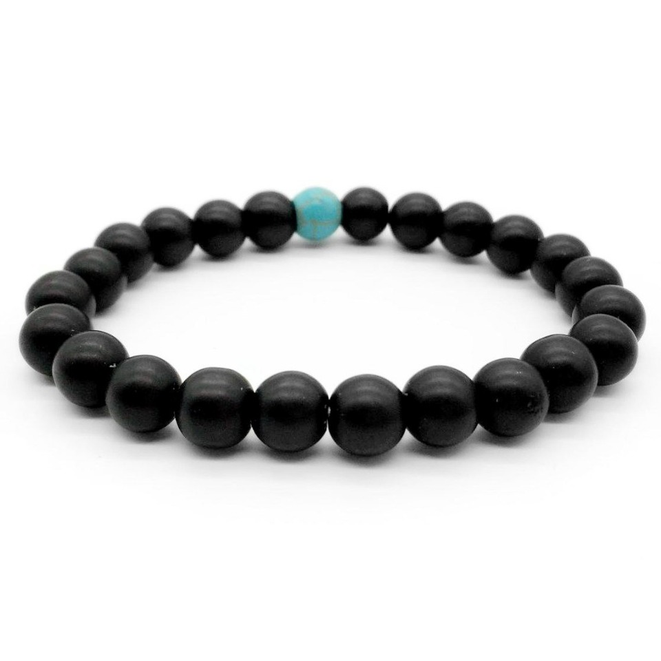Lava Stone Bracelets for Men and Woman-Couple Relationship Distance Charm Lovers Bracelets Gift Bestseller 2 Pc Set DIY Fashion Jewelry