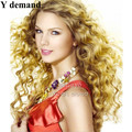 Meimei star wig Long blonde hair highlights Afro wavy hair color perruque synthetic Afro Hairstyles For Women