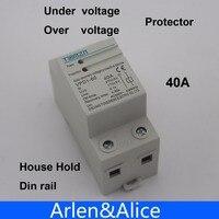 1 pcs 40A 230 V Din rail automatische herstel reconnect over en onder voltage beschermende apparaat bescherming relais