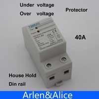 1 pièces 40A 230 V Din rail récupération automatique rebrancher sur tension et sous tension dispositif de protection relais de protection