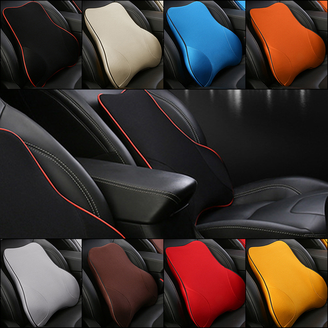 Car Seat Lumbar Cushion Memory Foam Back Brace Pillow Supports ...