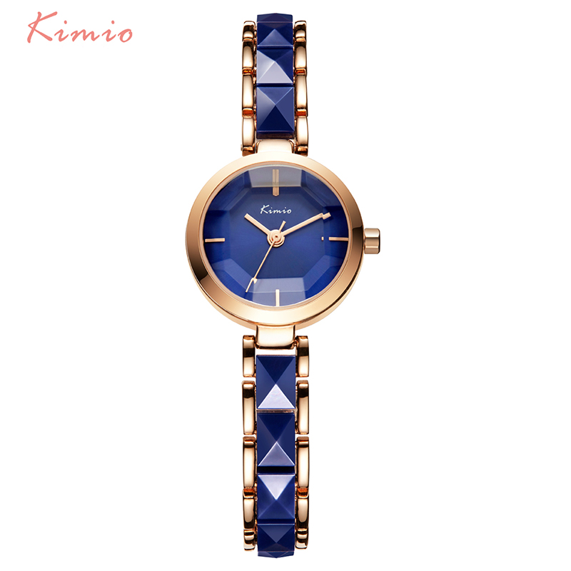 Kimio Brand Women Watch Ladies Imitation Ceramic Gold Casual Watches Montre Femme Women's WristWatches Relojes Mujer Montre kimio ultra thin women s bracelet watch ladies stainless steel dress watches with gift box relojes mujer relogios montre femme