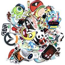EKIND 50pcs Animation cartoon Style Graffiti Stickers For Moto car suitcase cool laptop stickers guitar sticker(China)