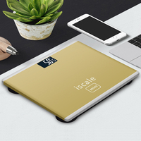 LEICTORY 2018 New Simple Design Smart Touch LED Dispay Electronic Digital Weighing Scale Bathroom Scale