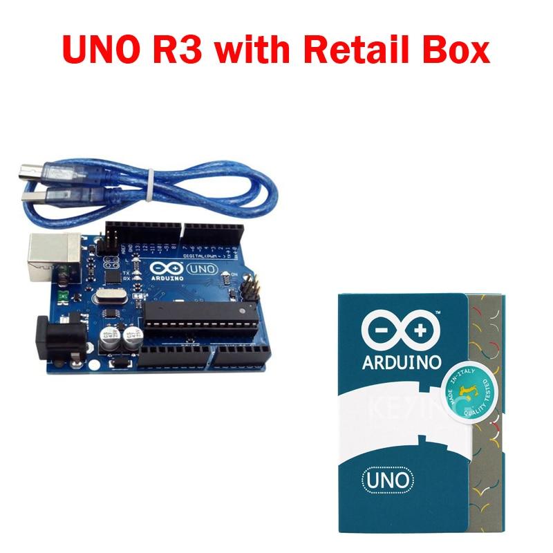 UNO R3 for arduino MEGA328P 100 original ATMEGA16U2 with USB Cable UNO R3 Official Box