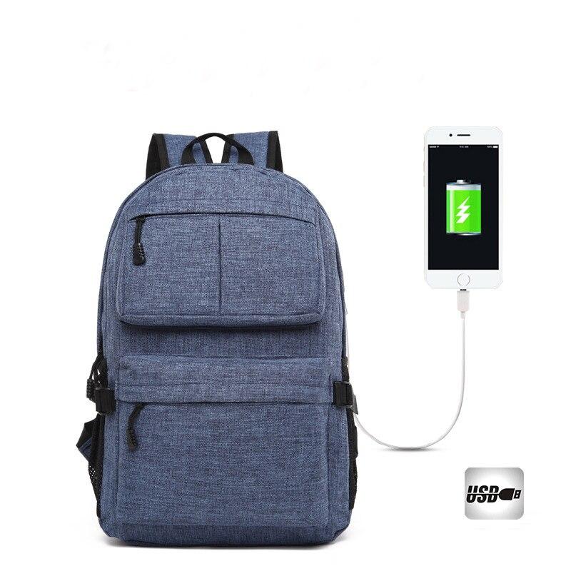 USB Unisex Design Backpack Book Bags for School Backpack Casual Rucksack Daypack Oxford Canvas Laptop Fashion Man Back pack bag
