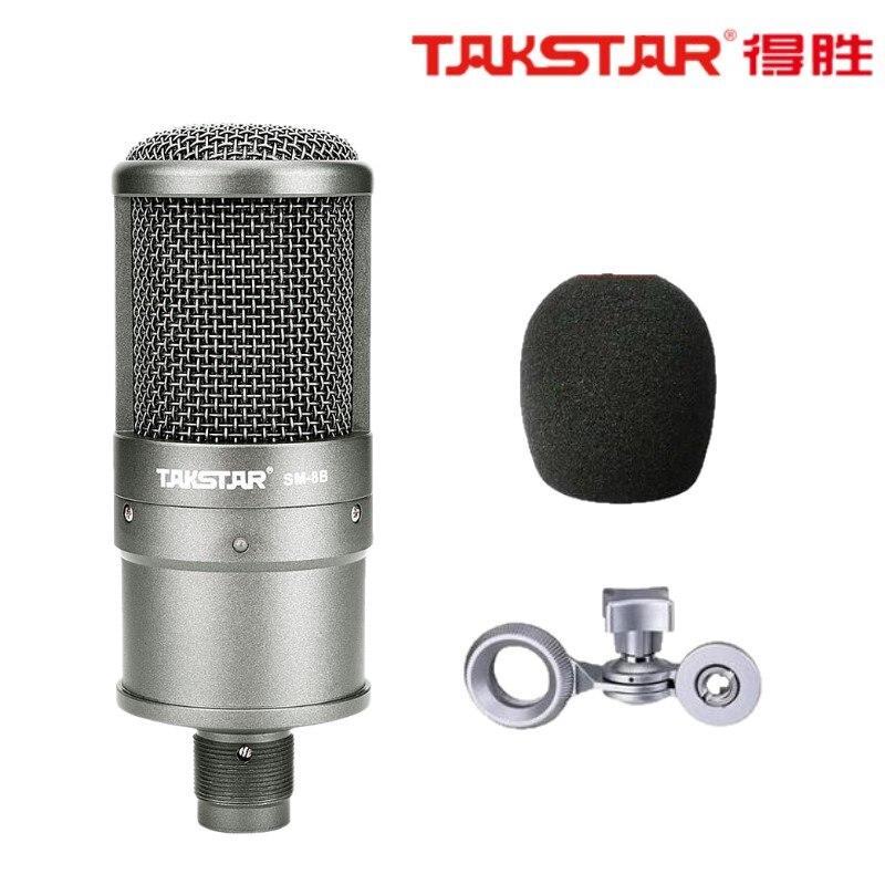 Cooperativa Top Quality Takstar Sm-8b Microfono A Condensatore Registrazione Del Microfono Del Computer La Canzone Con Una Scheda Audio, Senza Valigia