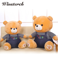 2016 New Arrival Lovely Wearing Clothes Teddy Bear Plush Toys Stuffed Doll Kids Birthday For Kids