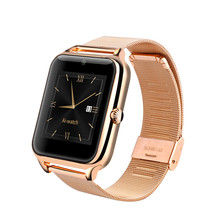 Bluetooth Smart Watch Z50 Intelligent Clock Phone with Metal Frame Leather and Steel Strap GSM/GPRS SIM Slot NFC Camera