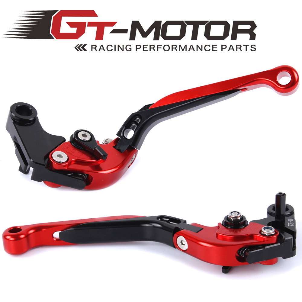GT Motor - F-22  B-22 Adjustable CNC 3D Extendable Folding Brake Clutch Levers  For Bmw S1000RR not HP4  2010-2014 gt motor f 16 dc 80 adjustable cnc 3d extendable folding brake clutch levers for moto guzzi breva 1100 norge 1200 gt8v
