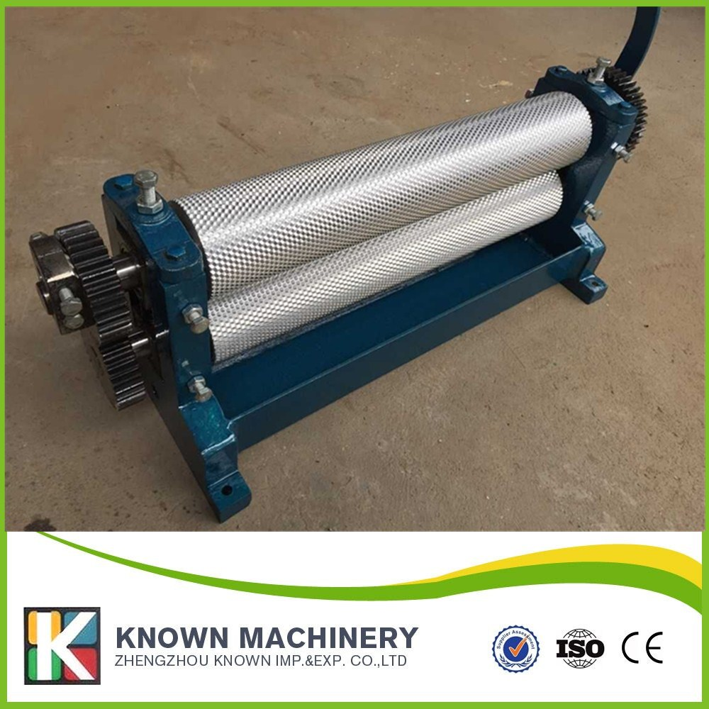 86*450 mm roller Beeswax Foundation Manual Coining Mill Machine