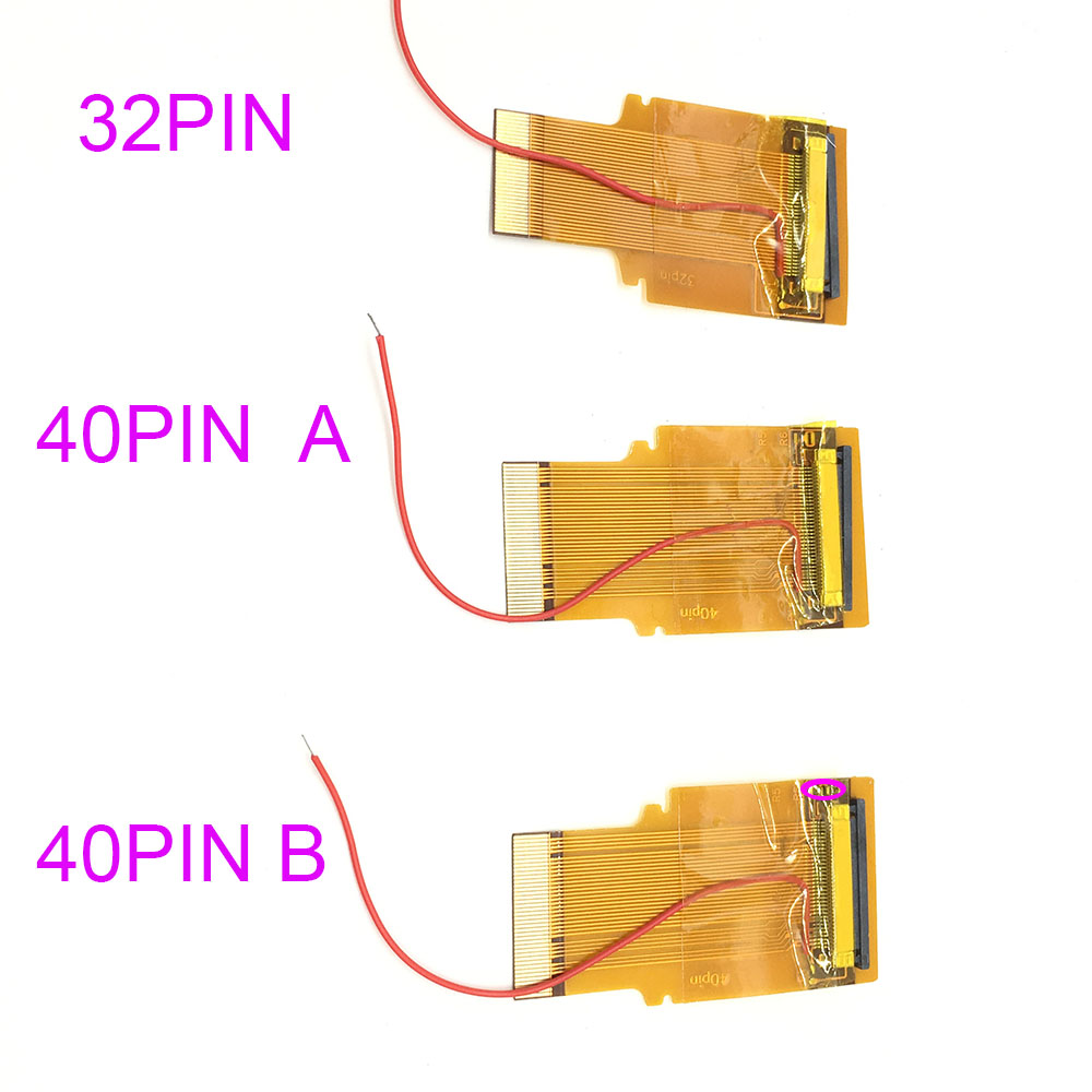 6PCS 32Pin 40 Pin A & B For GBA Ribbon Cable AGS 101 Backlit Highlit Adapter Screen Mod new for gameboy advance mod lcd backlight kit 32 pin or 40 pin for gba sp ags 101 backlit screen