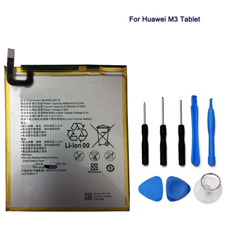 Tablet-zubehör Computer & Büro Hb2899c0ecw Batterie 5100 Mah Für Huawei Mediapad M3 8,4 btv-w09 Btv-dl09 Sht-al09 Sht-w09 Tablet Ersatz Eine GroßE Auswahl An Farben Und Designs