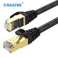 SAMZHE cat7 câble Ethernet réseau lan câble haute vitesse 10gbps RJ45 pour ps4 xbox PC modem ordinateur portable 1 m 1.5 m 2 m 3 m 5 m 8 m 10 m 15 m 20 m