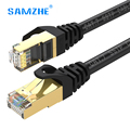 SAMZHE cat7 Ethernet Cable Network lan cable high speed 10gbps RJ45 for ps4 xbox PC modem Laptop 1m 1.5m 2m 3m 5m 8m 10m 15m 20m