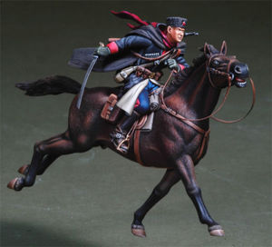 Image 1 - 1/35   Russian Cossack Cavalry  toy Resin Model Miniature Kit unassembly Unpainted