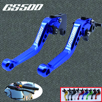 Palanca de embrague de freno ajustable corta CNC para SUZUKI GS 500 GS500 1989-2008 2003 2004 2005 2006 2007