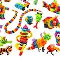 1kit 28.5*29*6 cm diseños creativos klettband diy (36 unid accesorio 370 diseños + caja) 2017 regalos de año nuevo caja de regalo juguetes