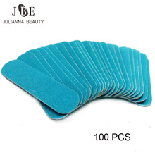 100pcs Professional Mini Nail File Buffer Block Disposable Buffing Sandpaper Salon Manicure Natural Cuticle Remover Nail Tool