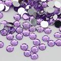 1000 шт. 2 мм-6 мм Размер Смешивания Светло-Фиолетовый 14 грани Смола Круглый Rhinestone Игристые Стразы Nail Art Украшения DIY N16