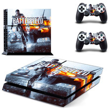 Battlefield 4 Vinly PS4 Skin Cover Sticker for Sony PS4 PlayStation 4 and 2 controller skins