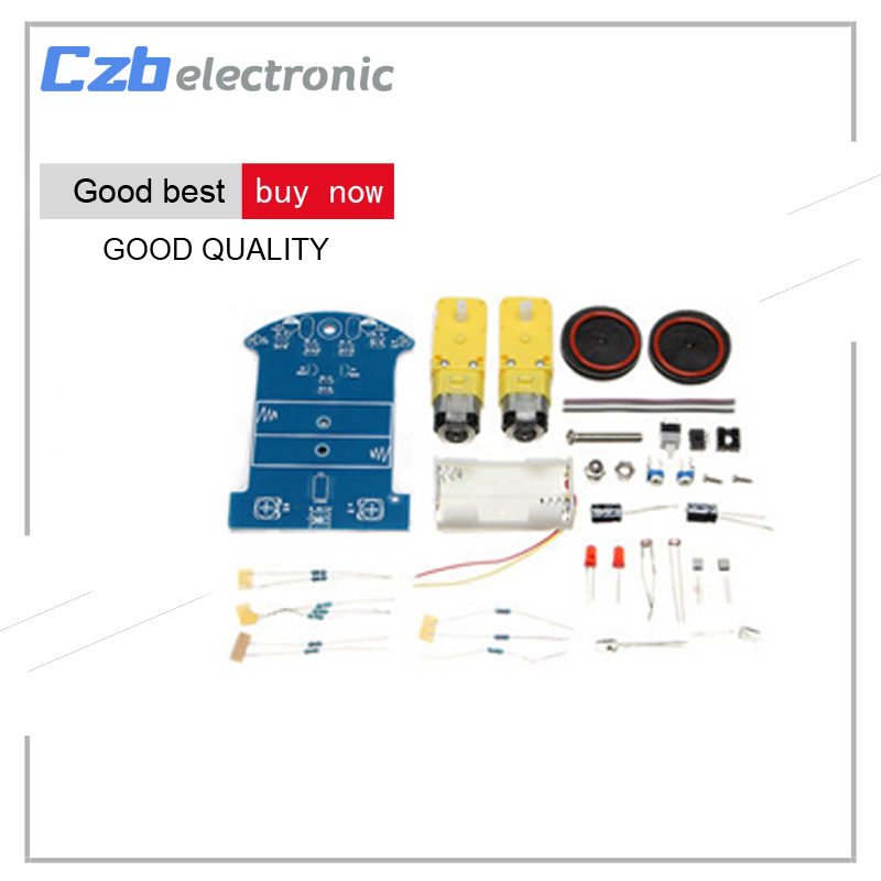 цена на D2-1 DIY Kit Intelligent Tracking Line Smart Car Kit Suite TT Motor Electronic Production Smart Patrol Automobile Parts