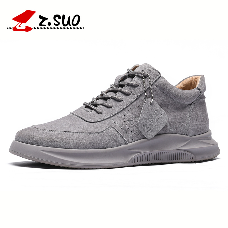 ZSUO Brand Fashion Suede Leather Mens Shoes High Quality Breathable Casual Sheos Men Walking Travel Sneakers Shoes For ManZSUO Brand Fashion Suede Leather Mens Shoes High Quality Breathable Casual Sheos Men Walking Travel Sneakers Shoes For Man