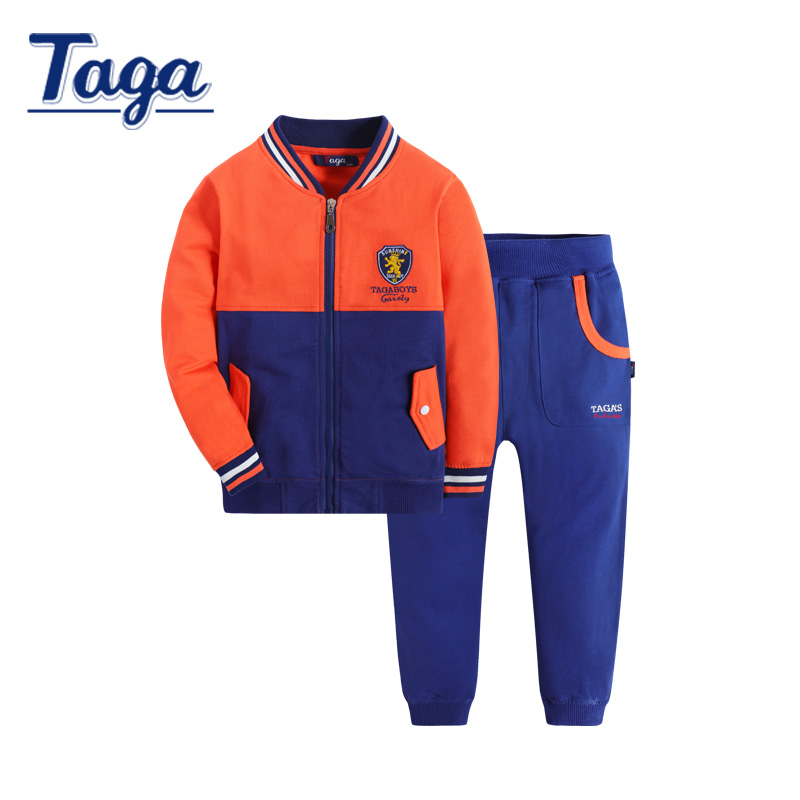 Boys Tracksuits New 2016 Autumn Spring Sports Suits Kids Long Sleeve cotton Pants Outfit Children Print Clothing Sets Age 3-14T