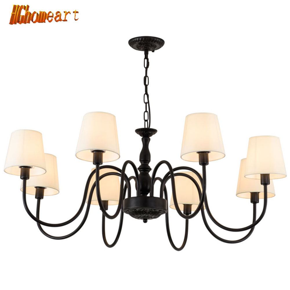 HGhomeart Chandelier European style American rural iron-art living room bedroom Kitchen simple and modern retro chandelier hghomeart chandelier european style copper chandelier living room chandelier lighting bedroom restaurant retro chandelier