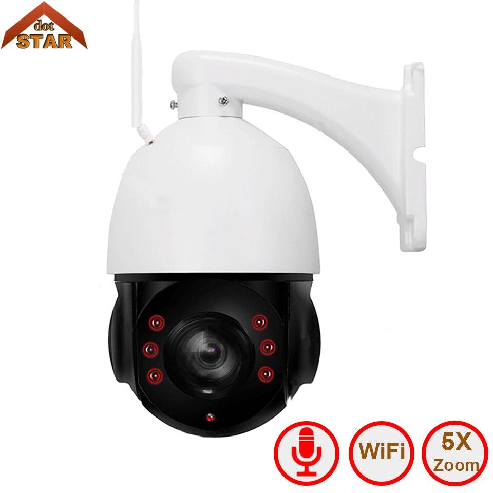 Caméra IP PTZ étanche extérieure Stardot Wifi H.264 1080 P caméra 2MP 5x zoom avec réseau de dôme de vitesse IR 60 m caméra ip ptz Onvif