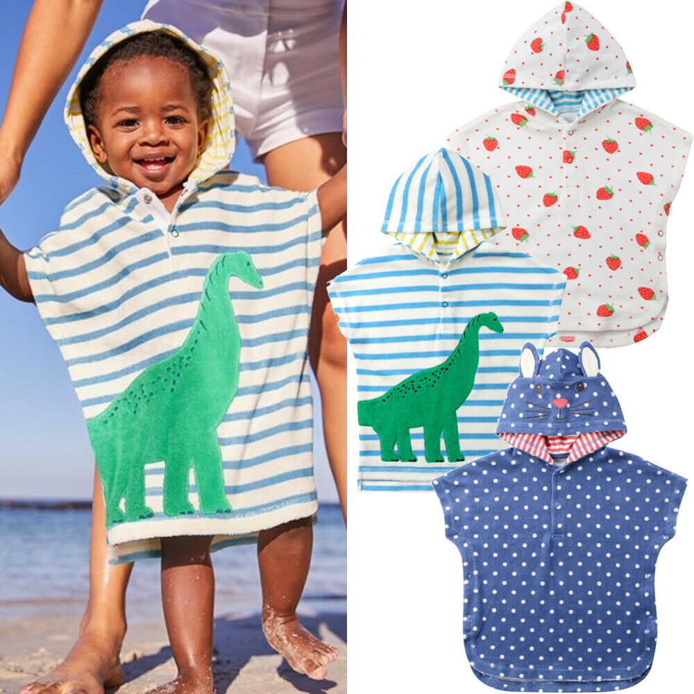 Fashion Baby Hooded Bath Towel Unisex Child Baby Hooded Poncho Swim Beach Cartoon Bathrobe Towel Newest Arrivals
