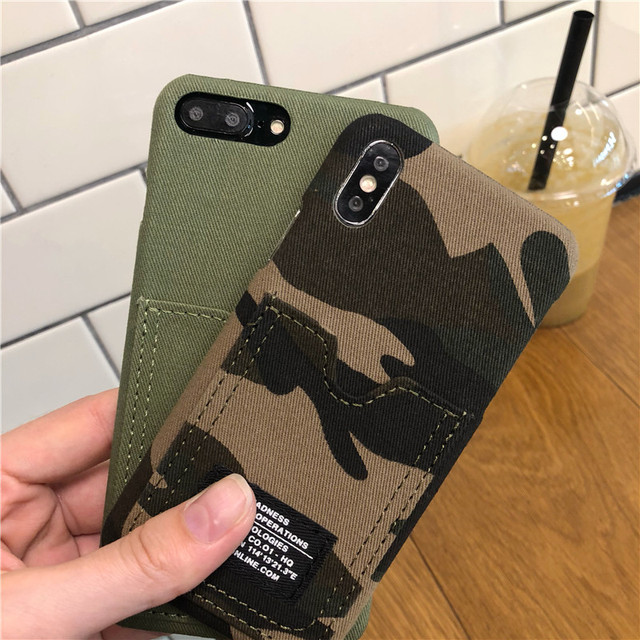 Hot Limited 2019 Edition Camouflage Phone Case With Card Holder For iPhone 4