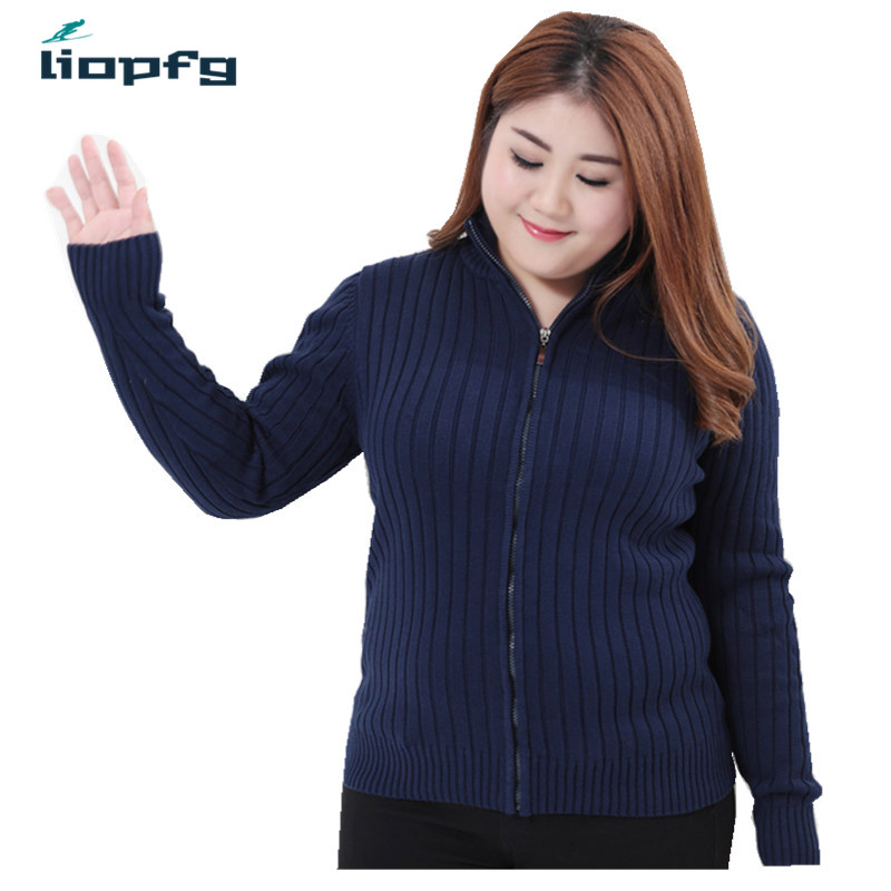 2018 New Plus Size Autumn Winter Women Sweater Cardigans Ladies Warm Casual Cardigan High Quality Women Knitted Sweater PQ239