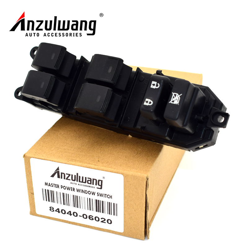 ANZULWANG 84040-06020 Electric Power Window Master Switch for Toyota PRIUS for LEXUS CT200H LAND CRUISER PRADO CAMRY Car styling 84040 60052 power window master switch for land cruiser prado lexus rx330 gx470 rx350 rx400h 2003 2009
