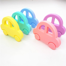 Chenkai 50PCS BPA Free DIY Silicone Car Teether Baby Shower Chewing Pendant Nursing Sensory Teething Pacifier Dummy Toy Gfit